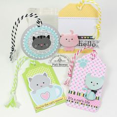 Doodlebug Design Inc Blog: Kitten Smitten Collection: Cards, Bookmarks & Tags Oh My!