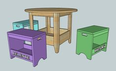 Ana White | Build a PLAN: Kids Storage Play Table | Free and Easy DIY Project and Furniture Plans