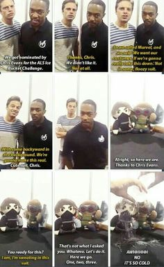 Sebastian Stan and Anthony Mackie are two of the funniest actors in the MCU. They portray the roles of Falcon and Winter Soldier in the Marvel movies, respectively. Funny Marvel Memes, Dc Memes, Avengers Memes, Marvel Avengers, Marvel Actors, Marvel Movies, Sebastian Stan, Marvel Universe, Sherlock