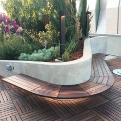 Http://Tournesolsiteworks.Com/Product-Boulevard-Decking.Html deck seating, Deck Seating, Garden Seating, Patio Bench, Backyard Patio, Modern Landscaping, Outdoor Landscaping, Patio Design, Garden Design, Landscape Architecture