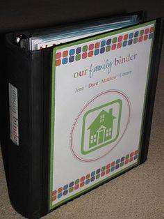 Family notebook- finances, medical info, menus, planning