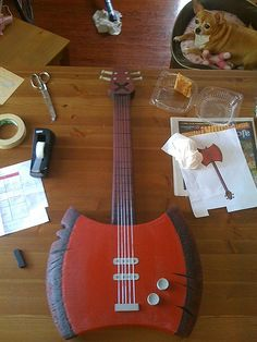 How-to Marceline Axe Bass from Adventure Time! I need to know this for Lyra's next haloween costume
