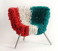 "Campana Brothers ""Italian pride"" Vermelha chair. Made with Wool."
