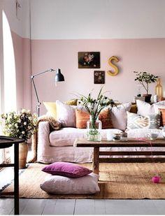 Los zócalos han vuelto. 20 paredes pintadas a la mitad con estilo | Mil Ideas de Decoración