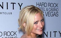Brittany Snows face-framing tendrils
