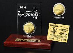 AAA Sports Memorabilia LLC - San Antonio Spurs 2014 NBA Finals Champions Gold Coin #sanantoniospurs #spurs #nba #nbafinals #nbacollectibles #sportsmemorabilia #sportscollectibles