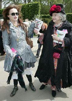 Helena Bonham Carter and her mum