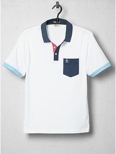 Color Block Polo Shirt by Original Penguin