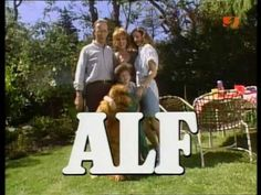 "ALF ""He's just like E.,"" says a character of the fuzzy extraterrestrial stranded on Earth in the pilot episode of ALF. Alf Tv Series, Serie Tv, Alien Life Forms, Learning English Online, Title Card, Old Shows, I Remember When, My Childhood Memories, Old Tv"