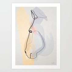 Buy One line Horse 1711 c Art Print by quibe. Worldwide shipping available at Society6.com. Just one of millions of high quality products available.
