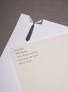 Tie and collar letterhead is super interesting #letterhead
