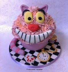 Alice in Wonderland Giant Cupcake - Cheshire Cat