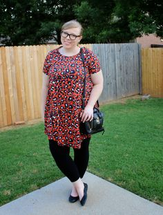 DIY FATSHION - FRIDAY FAVES: TUMBLR TWINS - ootd, leopard, black flats, how to wear leopard dress, plus size dress, leopard print, fatshion, psblogger, plus size, plus-size, plus size blogger, plus size fashion, bloggers, fat fashion, outfit of the day, plus size outfit, casual, what to wear, simple summer outfit