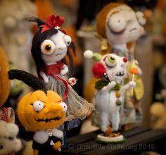 Needle felting by Kerry Schmidt. Ghoultide Gathering Halloween Art Show | Details