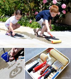 Dry weather fun: Painting With Water so simple but they will love it!