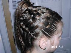 basket weaved hair??