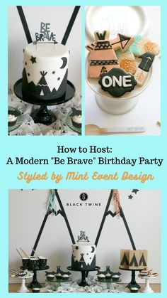 """How To Host A Modern """"Be Brave"""" Birthday Party Styled by Mint Event Design 