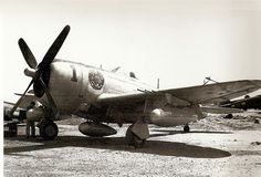 This P-47 was flown by the 1°GAvCA commander (hence the large '1' on the cowling) from Tarquinia Airport in late 1944
