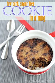 A gooey and moist low carb mug cookie sure to put a smile on your face! We love making this dessert recipe late at night when sweet cravings kick in. Best part about it is it's completely sugar free! www.tasteaholics.com
