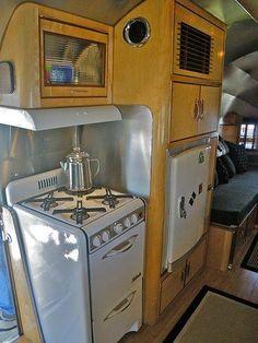 Custom Airstream interior kitchen | Airstream Dreams | Pinterest