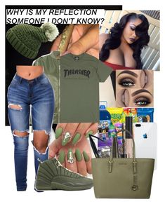 """6:15✅✅"" by thebratroyalty ❤ liked on Polyvore featuring MISBHV, Bare Escentuals, NYX and Michael Kors"