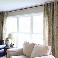 Sew your own curtain panels/drapes out of tablecloths --  and many  more clever DIY curtain ideas