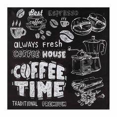Toile 80 x 80 cm COFFEE HOUSE