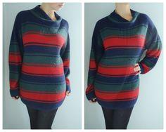 Vintage Striped Hipster Sweater Dress.