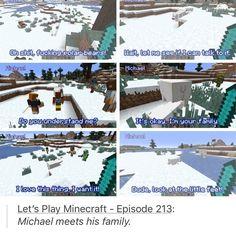 Minecraft episode 213 Michael meets polar bear family