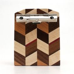 Mini Walnut Checkered Clipboard-3x4