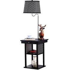 Brightech Madison LED Floor Lamp Swing Arm Lamp w/ Shade & Built In End Table & Shelf, Includes 2 USB Ports & 1 US Electric Outlet – Bedside Table Lamp for Bedroom & Side Table Lamp for Living Room - PriceFire Side Tables Bedroom, Table Lamps For Bedroom, Bedside Table Lamps, Diy Lamps, Bedroom Decor, Floor Lamp Shades, Led Floor Lamp, Cool Floor Lamps, Shabby Chic