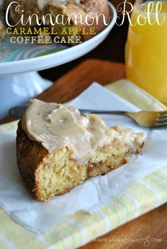 Caramel Apple Cinnamon Roll Coffee Cake.