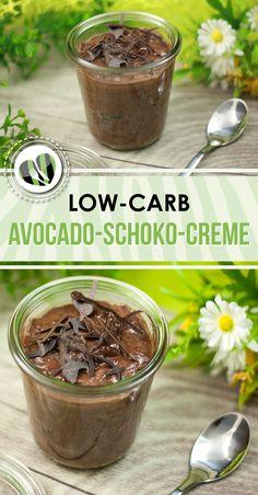 Die Avocado-Schoko-Creme ist low-carb, glutenfrei und auf Wunsch vegan.