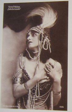 """Vera Fokina dans """"Schéhérazade"""", 1914 ballets russes"""
