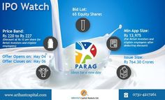 Ongoing #IPO, #Parag Milk Foods Ltd , Apply in #IPO now in ASBA mode, to apply call us at 0731-4217261