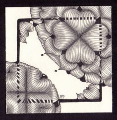 """Tickled To Tangle: """"It's a String Thing"""" #207 Tiles"""