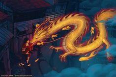 Night Light - short film by Qinni on DeviantArt Fantasy Dragon, Dragon Art, Fantasy Art, Fantasy Life, Qinni, Dragon's Lair, Digital Painting Tutorials, Mermaids And Mermen, Mythological Creatures