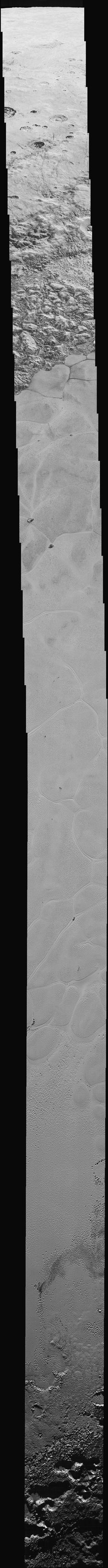 Pluto Mosaic by nasa: New Horizons captured the images from a distance of about 9,850 miles (15,850 kilometers) on July 14, 2015, 23 minutes before the probe's closest approach to Pluto (which brought it to within 7,800 miles, or 12,550 km, of the dwarf planet's surface). - See more at: http://www.space.com/33020-pluto-best-images-new-horizons-video.html#sthash.rUZ2PAMO.dpuf #Space #Pluto