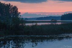 Sunset. Lake Saimaa.  16th July , 2014 , Savonlinna