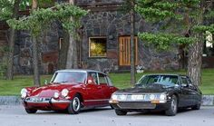 Citroen DS and the SM. See how much lower the SM is.