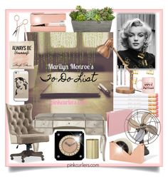 """""""Marilyn Monroe's to do list"""" by pinkcurlers ❤ liked on Polyvore featuring interior, interiors, interior design, home, home decor, interior decorating, Tom Dixon, Cartier, Hooker Furniture and Casetify"""