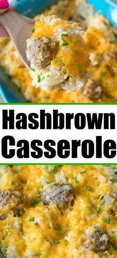 Hashbrown casserole with hamburger ground beef frozen meatballs or leftover ham. Breakfast for dinner is great with lots of cheese. Easy Breakfast Casserole Recipes, Hashbrown Breakfast Casserole, Hash Brown Casserole, Ham Breakfast, Breakfast For Dinner, Easy Dinner Recipes, Morning Breakfast, Breakfast Ideas, Easy Recipes
