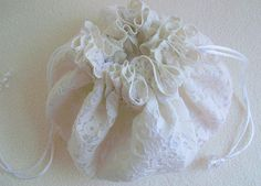 Brides Bag Bridal Drawstring Pouch Wedding Purse ♥ by sammysgrammy, $45.00