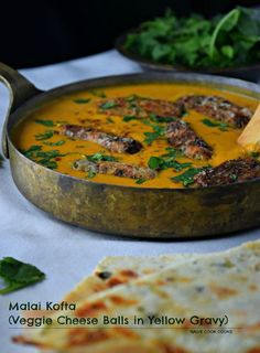 Best Malai Kofta | Potato & Cheese balls simmered in tomato onion gravy!!