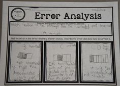 Error Analysis-Teach students how to take a multiple choice test through this error analysis practice. Includes a free printable.