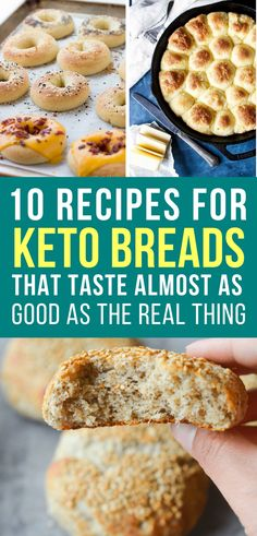 If you're trying to live a ketogenic lifestyle but are craving bread don't give up because these delicious low carb keto bread recipes are the perfect replacement! #keto
