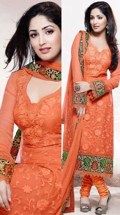 Yami Gautam In Orange Salwar Kameez 2H500797
