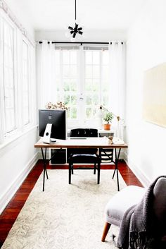 10 Tips for Creating the Ultimate At-Home Office// office design, truss table