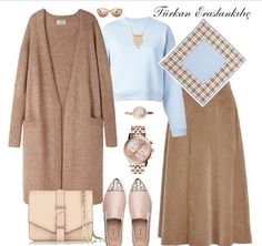 Many more like this can be found at the website! Give it a look for what we pick best for each category!Türkan Eraslankılıç: Special Combinations at Weekend Maxi Outfits, Modest Outfits, Classy Outfits, Fashion Outfits, Womens Fashion, Travel Outfits, Casual Hijab Outfit, Hijab Chic, Street Hijab Fashion