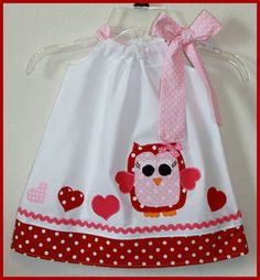 Super Cute Valentine Owl Heart Applique by LilBitofWhimsyCoutur, $25.00